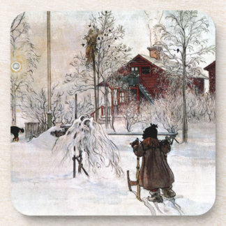 The Yard and Wash-House, Carl Larsson Drink Coaster