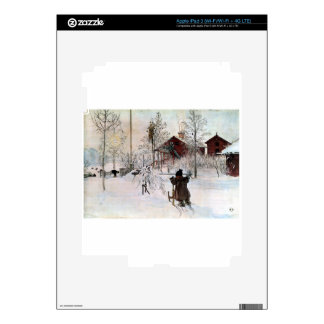 The Yard and Wash-House, Carl Larsson iPad 3 Skin