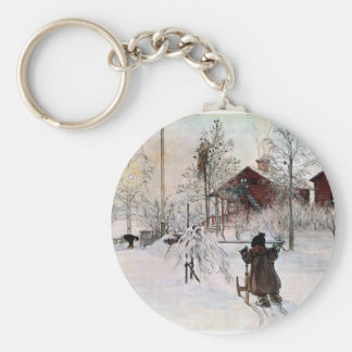 The Yard and Wash-House, Carl Larsson Keychain