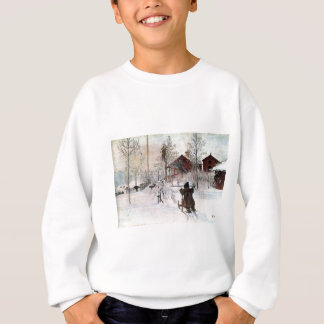 The Yard and Wash-House, Carl Larsson Sweatshirt