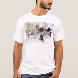 The Yard and Wash-House, Carl Larsson T-Shirt