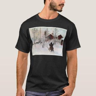 The Yard and Wash-House, Carl Larsson T-Shirt