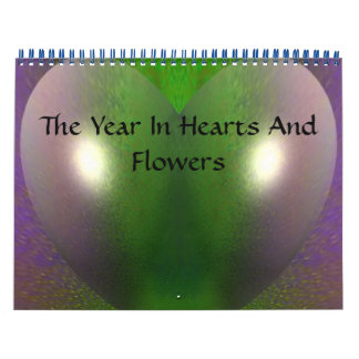 The Year In Hearts And Flowers calendar