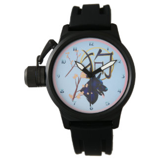 The Year Of The Dog--black dog Wristwatches