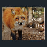 """The Year of The Fox Calendar<br><div class=""""desc"""">Add some color and character to your life a you keep track of each month with one of our amazing calendars!</div>"""