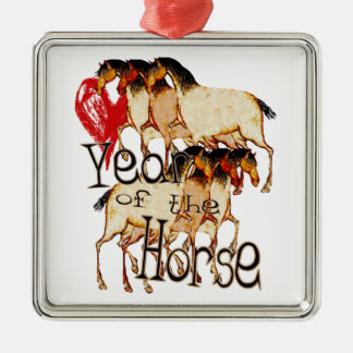 The Year of the Horse Metal Ornament