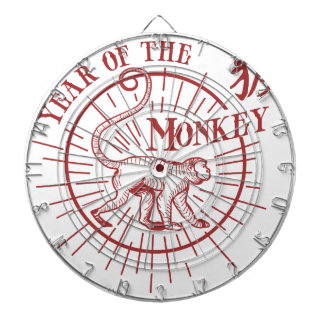 """""""the year of the monkey"""" dartboard with darts"""