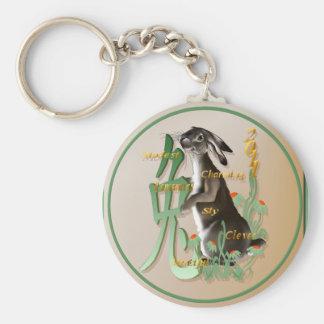 The Year Of The Rabbit-Keychains Basic Round Button Keychain