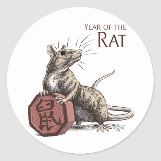 The Year of the Rat Sticker