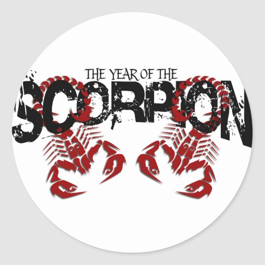 The Year of the Scorpion #2 Classic Round Sticker