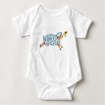 the year of the sheep baby bodysuit