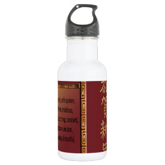 The Year of the Snake, 2013, Happy New Year in Chi Stainless Steel Water Bottle