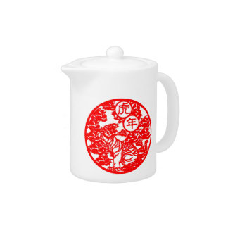 """""""The Year Of The Tiger"""" Teapot"""