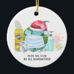 "The Year We All Quarantined | 2020 Commemorative Ceramic Ornament<br><div class=""desc"">A great way to remember the year 2020 when the planet quarantined together. Personalize the back with your name or add your own family photo. Add your custom wording to this design by using the ""Edit this design template"" boxes on the right hand side of the item, or click the...</div>"
