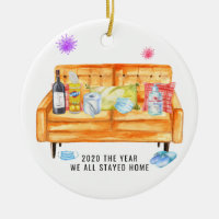 The Year We All Stayed Home | 2020 Commemorative Ceramic Ornament