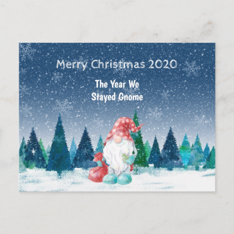the year we stay home Christmas 2020 pandemic Postcard