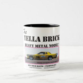the YELLA BRICK Heavy Metal noise Two-Tone Coffee Mug