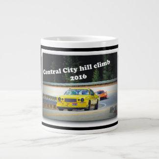 The YELLA BRICK rips up the Central City hillclimb Large Coffee Mug
