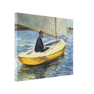 The Yellow Boat, 1891 - Gustave Caillebotte Gallery Wrapped Canvas