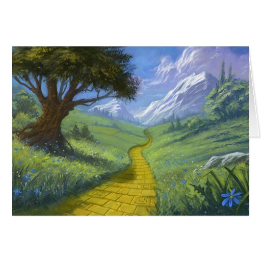 The Yellow Brick Road Stationery Note Card