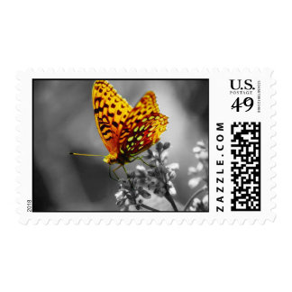 The Yellow Butterfly Postage Stamps