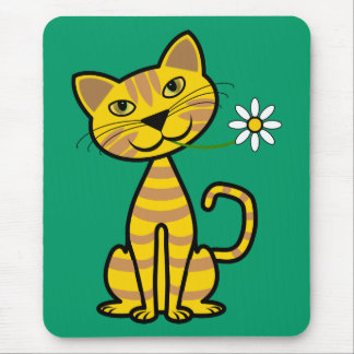 The Yellow Cat Mouse Pad
