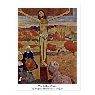 The Yellow Christ By Eugene Henri Paul Gauguin Postcard