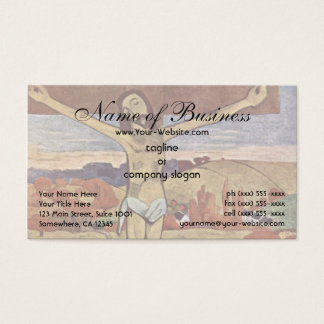 The Yellow Christ by Paul Gauguin Business Card