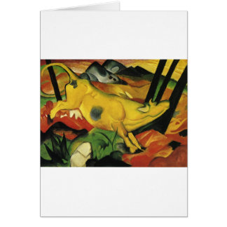 The Yellow Cow by Franz Marc Card
