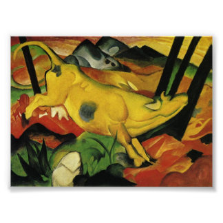 yellow cow posters zazzle