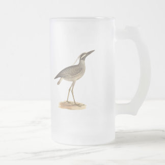 The Yellow-crowned Night Heron(Ardea violacea) Frosted Glass Beer Mug