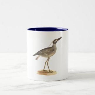 The Yellow-crowned Night Heron(Ardea violacea) Two-Tone Coffee Mug
