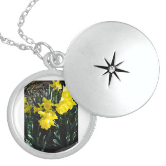 The Yellow Daffodil Neclace Locket Necklace