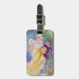 The Yellow Domino, design for a tapestry Bag Tag