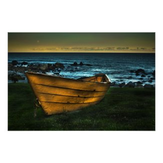The Yellow Dory Of White Point canvas Print print