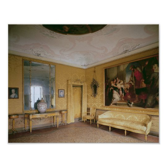 The Yellow Drawing Room, Ca' Rezzonico Poster