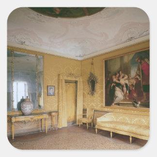 The Yellow Drawing Room, Ca' Rezzonico Square Sticker