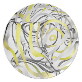 The Yellow Flow Dinner Plate