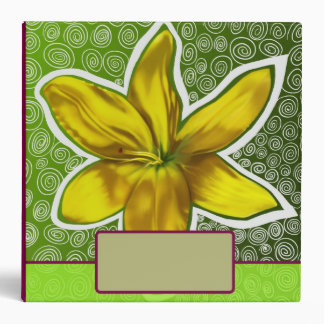 The Yellow Flower 3 Ring Binder