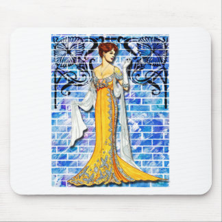 THE YELLOW GOWN MOUSE PAD