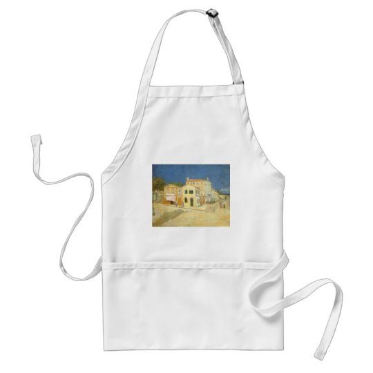 The Yellow House by Vincent van Gogh Adult Apron
