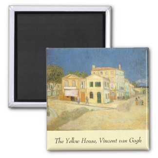 The Yellow House by Vincent van Gogh 2 Inch Square Magnet