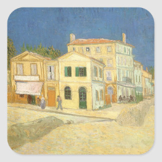 The Yellow House by Vincent van Gogh Square Sticker