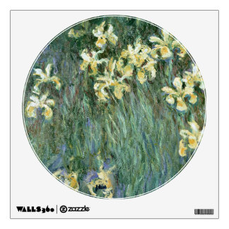 The Yellow Irises (oil on canvas) Wall Decal
