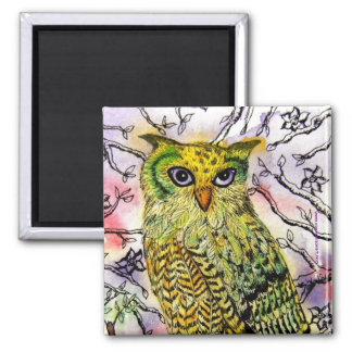 The Yellow Owl Magnet