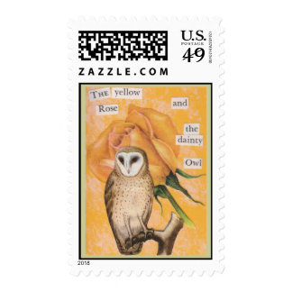 The Yellow Rose, and the Dainty Owl Stamp