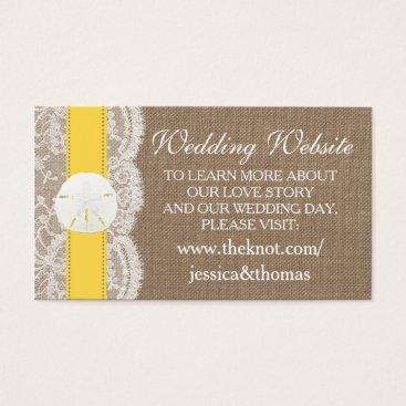 Beach Themed The Yellow Sand Dollar Beach Wedding Collection Business Card