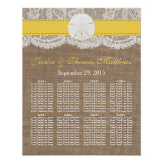 The Yellow Sand Dollar Beach Wedding Collection Poster