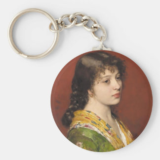 The Yellow Shawl by Eugene de Blaas Keychains