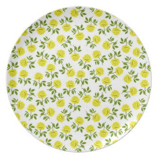 The Yellow Tea Roses Plate